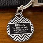 Personalize Chevron Pet ID Tag
