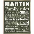 Personalized Love Your Family Rules Canvas Wall Art