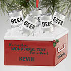 Most Wonderful Time for a Beer Personalized Ornament