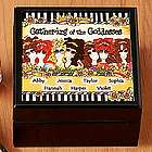 Personalized Gathering of the Goddesses Tile Box