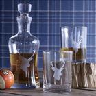 Gentleman's Stag Etched Decanter and Tumblers