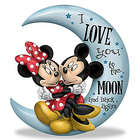 Mickey and Minnie Mouse I Love You to the Moon and Back Figurine