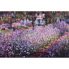 The Artist's Garden at Giverny, c.1900 Canvas Print