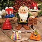 Gnome Greeter Yard Sculpture with Holiday Hats