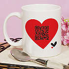 Personalized QR Code Heart Coffee Mug