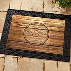 Circle of Love Recycled Rubber Back Personalized Doormat