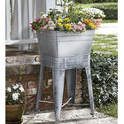 Washtub Planter & Stand