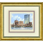 Framed Color Print of Boston