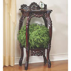 Hand Carved Cherry Wood Plant Stand