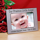 Personalized Little Angel Silver Picture Frame