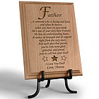 Personalized What It Means To Be a Father Wooden Plaque
