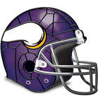 Minnesota Vikings Football Helmet Stained Glass Accent Lamp