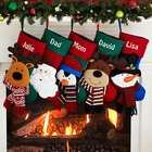Personalized Happy Holidays Character Christmas Stockings