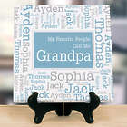 Personalized Favorite People Word-Art Tabletop Canvas Art Print