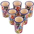 6 Dance of Colors Ceramic Tequila Cups