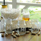 4 Personalized Collegiate Style Glass Jars