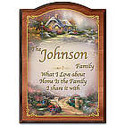 Forever Family Personalized Wooden Welcome Sign