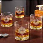 4 Personalized Buckman Oxford Whiskey Glasses