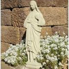 Vintage Mary Cast Stone Statue