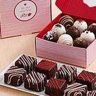 9 Valentine's Cheesecake Bites and 18 Valentine's Cake Truffles