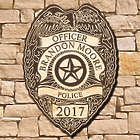 Personalized Police Badge Wall Sign