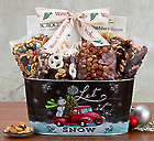 Let it Snow Nut and Cheese Gift Tin