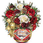 Holiday Cheer Always in Bloom Illuminated Floral Centerpiece