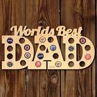 World's Best Dad Beer Cap Map Bar Sign