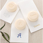 Elegant Monogram Guest Soap and Towel Set