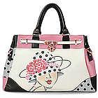 Vintage Glamour Satchel Handbag with Adjustable Strap