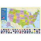 Laminated United States Map for Kids