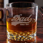 Sports Dad Personalized Whiskey Glass