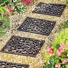 3 Addison Brown Rubber Stepping Tiles