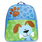 Dog with Bone Personalized Vinyl Backpack