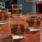 Personalized Oil Strike Rutherford Whiskey Glasses