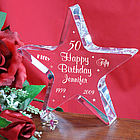 Personalized Happy 50th Birthday Star Keepsake
