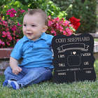 Personalized Baby Stats Chalkboard Picture Sign