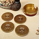12-Gauge Shotgun Shell Coaster Set