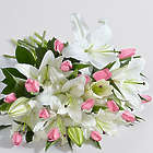 Deluxe Spring Tulips and Lilies Bouquet