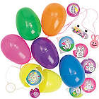 Jumbo Toy Filled Bright Colored Easter Eggs