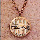 Greyhound / Whippet Locket Necklace