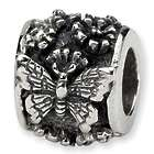 Sterling Silver Butterfly Bali Bead for European Style Bracelets