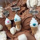 Triple Scoop Ice Cream Cone BFF Necklace Gift Set
