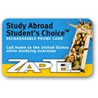 ZapTel Study Abroad Student's Choice Phone Card