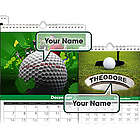 Personalized Golf Calendar