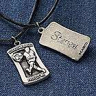 "Personalized Guardian Angel Sports Medal on 20"" Cord"