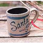 Rowe Pottery Santa Mug Christmas Ornament