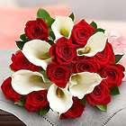 Stunning Red Rose and Calla Lily Bouquet for Valentine's Day