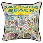 Hand Embroidered Daytona Beach Pillow