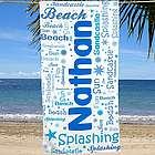 Personalized Word-Art Beach Towel